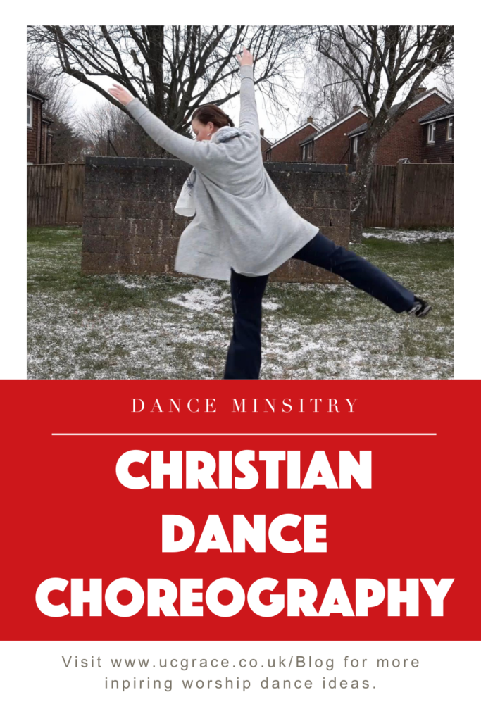 Pinterest graphic for  Christian dance choreography.