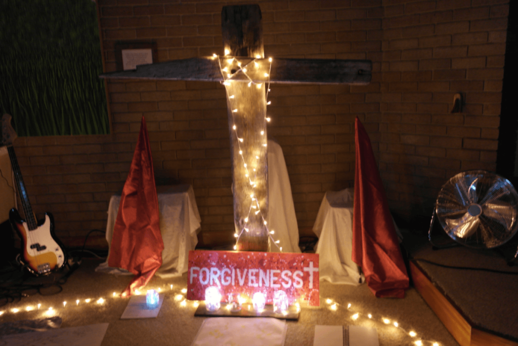 Forgiveness at the cross in worship