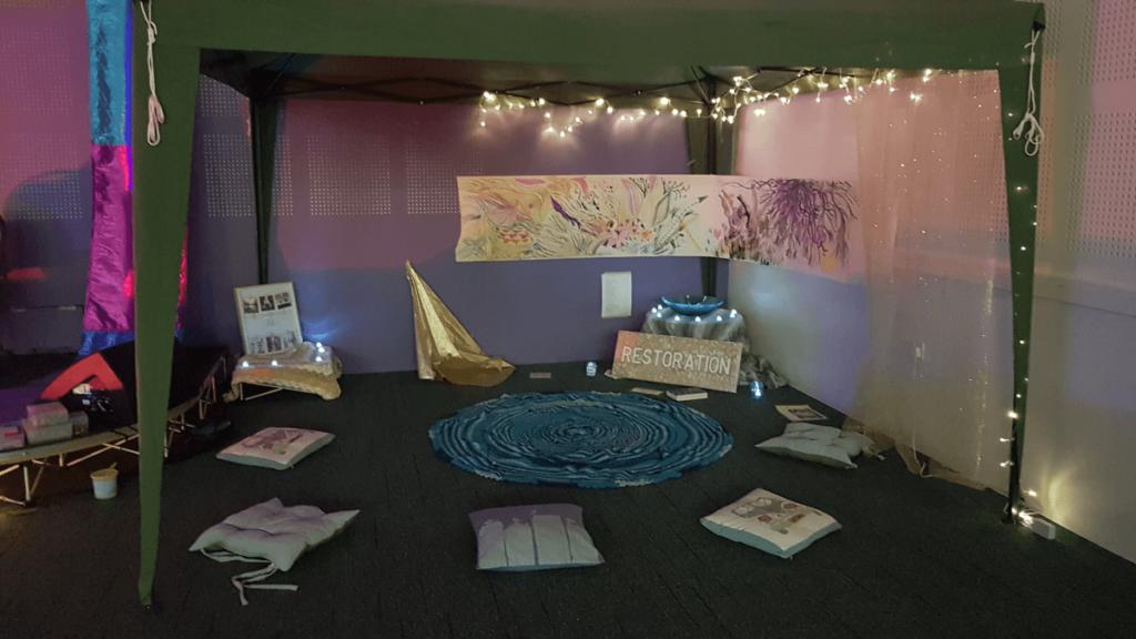 A quiet prayer space.