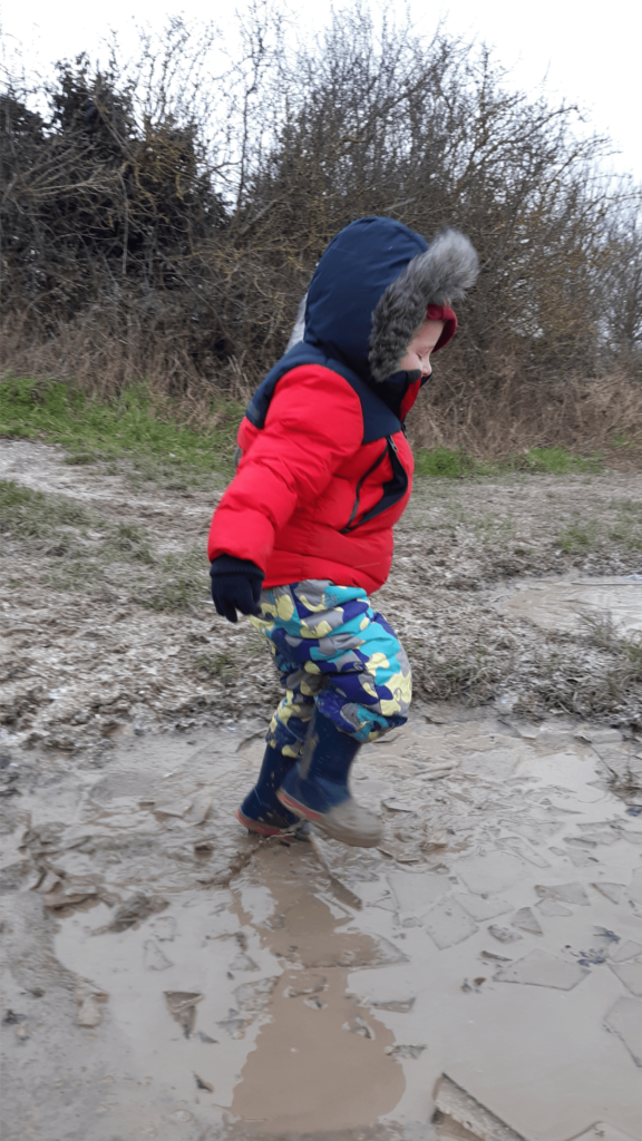 Being child like jumping in puddle for Meaning of Matthew 14.2-4.