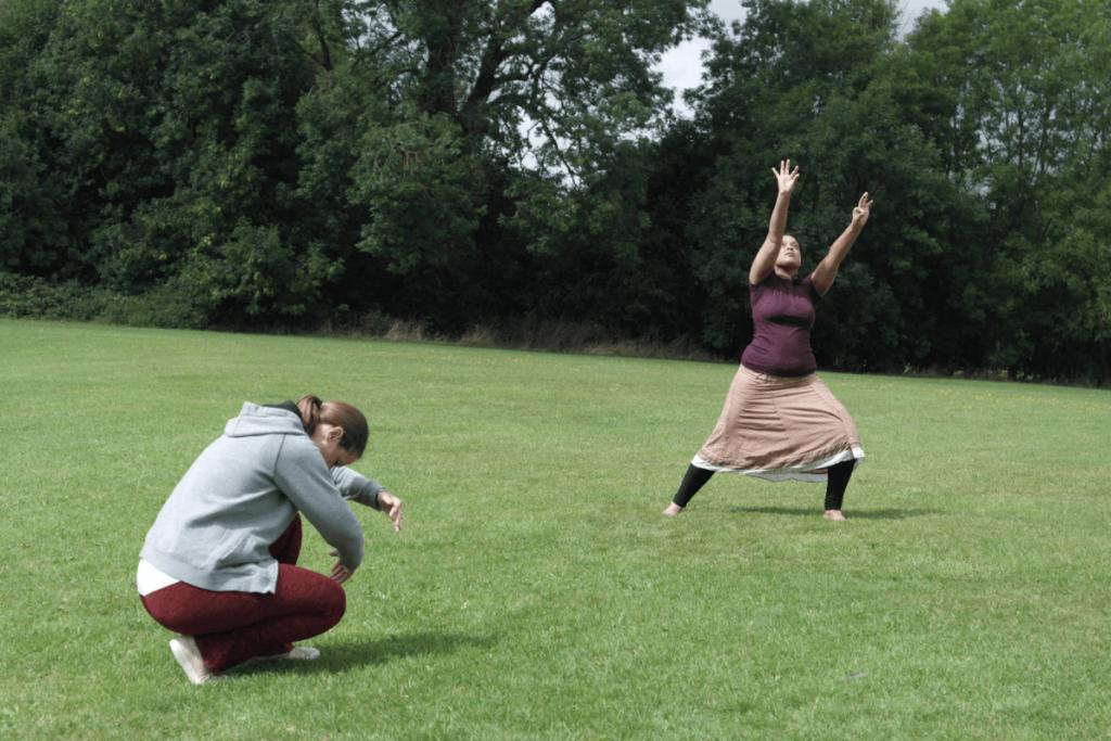 Speed, size and shape explored through worship dance choreography.
